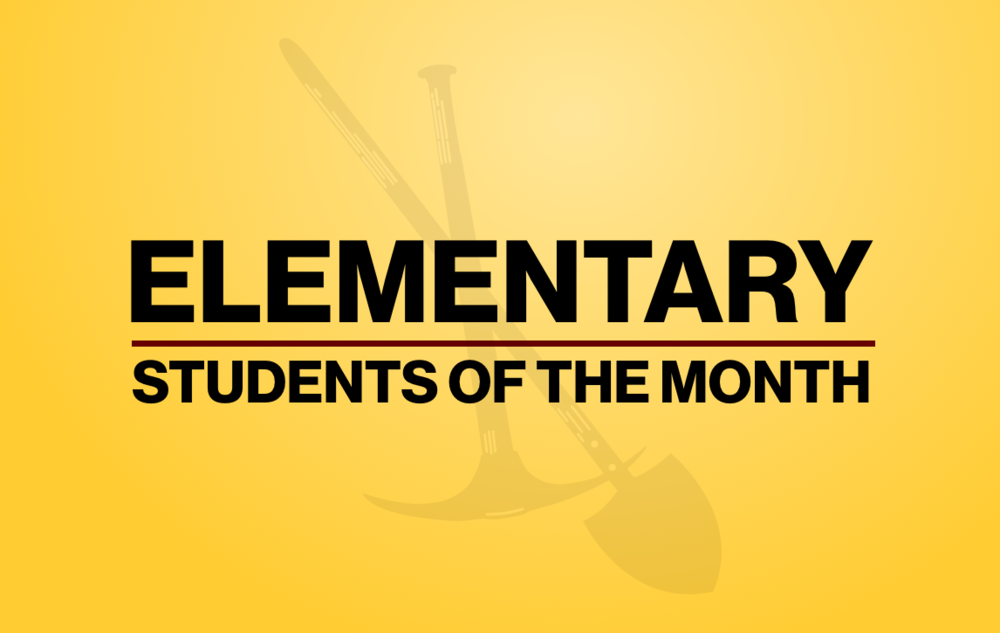 January Elementary Diggers of the Month