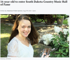 16 year-old to enter SD Country Music Hall of Fame