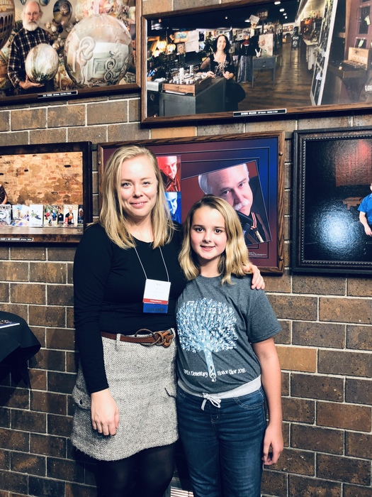 Lead-Deadwood 6th grader Raelie Williams with director, Kari Owens, after the 2018 SD Music Educator's Assoc Honor Choir!